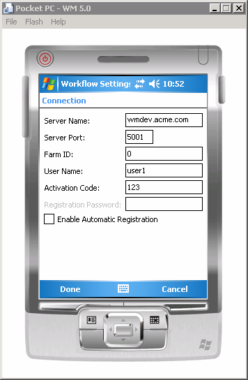 Configuring Connection Settings on Windows Mobile